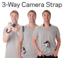 3 way camera strap